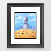 Giant Robo Dino Framed Art Print