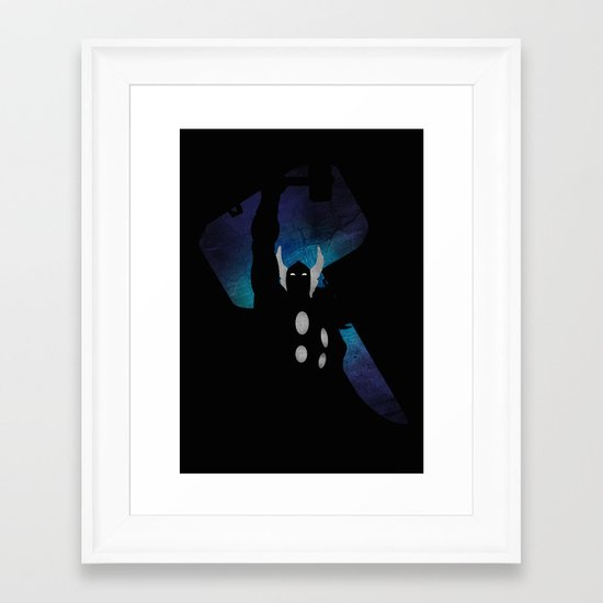 SuperHeroes Shadows : Thor Framed Art Print