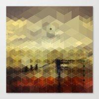 Drone Birds In A Western… Canvas Print