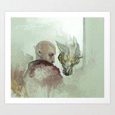 He Walks Alone Art Print