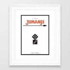 Jumanji - minimal poster Framed Art Print