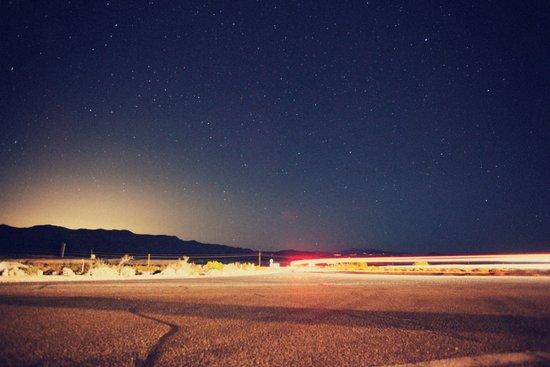 Vegas lights as seen from Death Valley Art Print