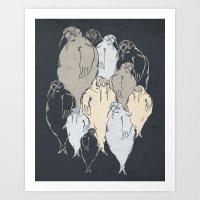 Walrus Pod Art Print