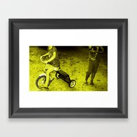 KIDS PLAYING Framed Art Print