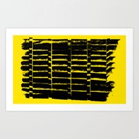 Warning Art Print