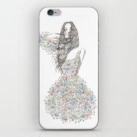 Flower Girl - pattern iPhone & iPod Skin