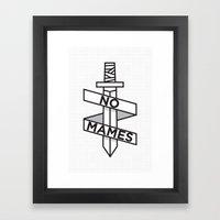 NO MAMES Framed Art Print