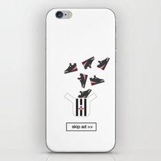 sneakers ad iPhone & iPod Skin
