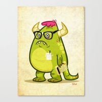 Monster Nerd Canvas Print