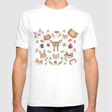 Woodland Kaleidoscope White SMALL Mens Fitted Tee