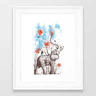 Framed Art Print featuring A Happy Place by Norman Duenas