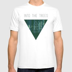 Into The Trees White SMALL Mens Fitted Tee
