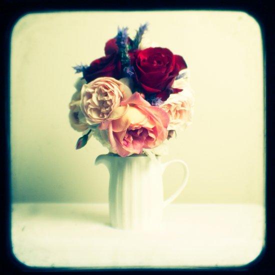 Roses & Lavender Art Print