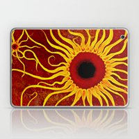 Psychedelic Susan 002, Sunflowers Laptop & iPad Skin