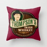 Thompson's Irish Whiskey Throw Pillow
