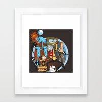 METAL GEAR RICK Framed Art Print
