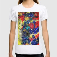 Paint Splash Dark Womens Fitted Tee Ash Grey SMALL