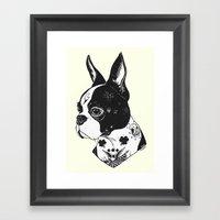 Dog - Tattooed BostonTer… Framed Art Print
