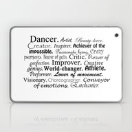 Dancer Description Laptop & iPad Skin