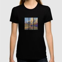 Along The Fence Womens Fitted Tee Black SMALL