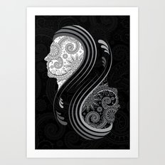 B&W Infinity Art Print