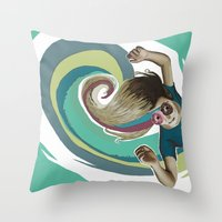 Donut try to understand (the wave) Throw Pillow