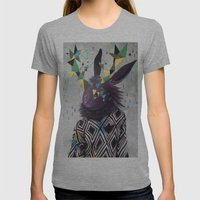 Dark Rabbit Womens Fitted Tee Athletic Grey SMALL