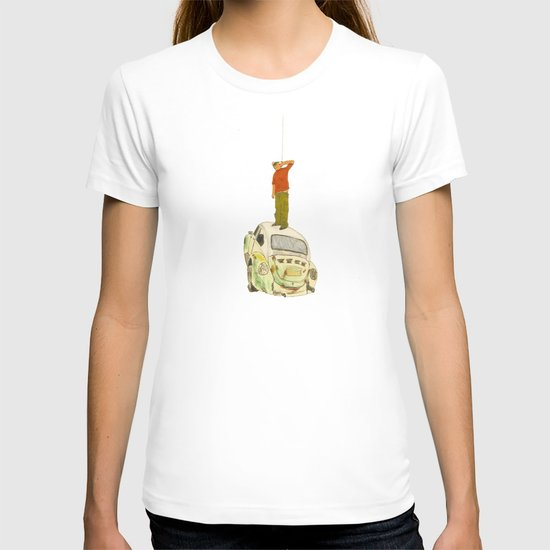 man listening something from the sky T-shirt