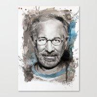 Steven Spielberg Canvas Print