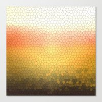 orange sparkle Canvas Print