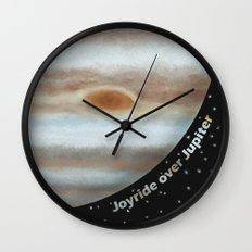 Joyride Over Jupiter Wall Clock