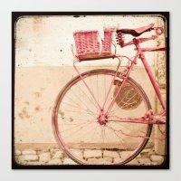 I Took My Bike And Went … Canvas Print