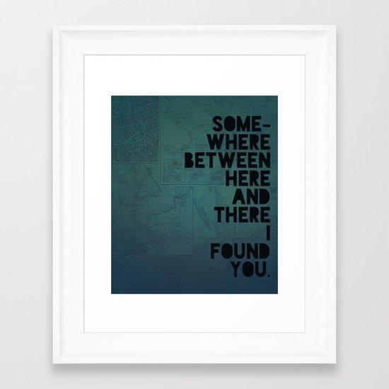Here & There II Framed Art Print