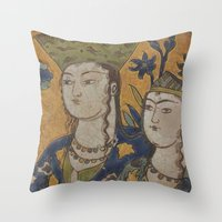 persian painting Throw Pillow