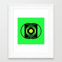 The Lantern's Glow Framed Art Print