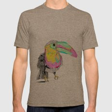 Toucan Mens Fitted Tee Tri-Coffee SMALL