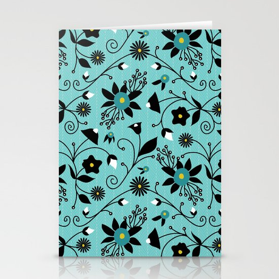 Folky Floral Stationery Card