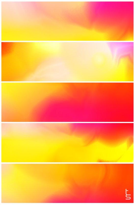 Astro Hue (Five Panels Series) Art Print