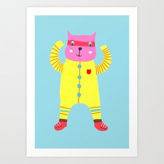 Happy Cat! Art Print