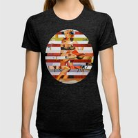 Glitch Pin-Up: Britney Womens Fitted Tee Tri-Black SMALL