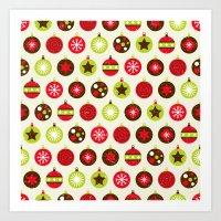 Christmas Baubles Art Print