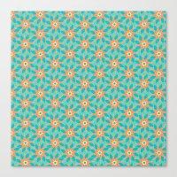 Tropical Florals Canvas Print
