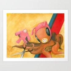 dawn of the bunnypus Art Print