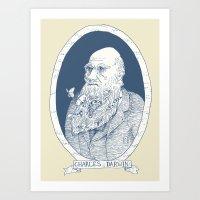 By Darwin's Beard Art Print