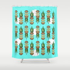Eat pineapples Shower Curtain