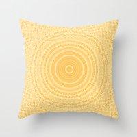 Kaleidoscope Yellow Patt… Throw Pillow