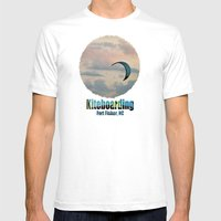 Kiteboarding Fort Fisher… Mens Fitted Tee White SMALL