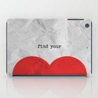 find your half (1 of 2 parts)  iPad Case
