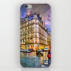 Rainy evening in Paris, France iPhone & iPod Skin
