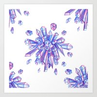 Zero Gravity Crystals II Art Print